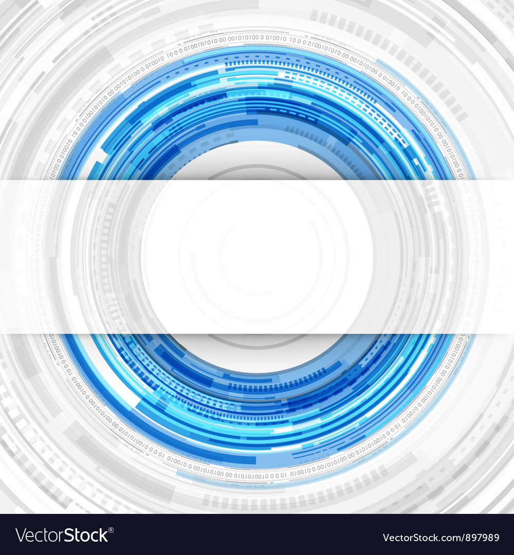 Abstract technology circles and transparent paper vector | Price: 1 Credit (USD $1)