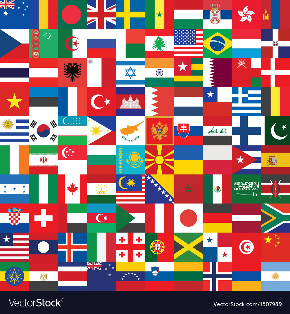Background made of flag icons vector | Price: 3 Credit (USD $3)