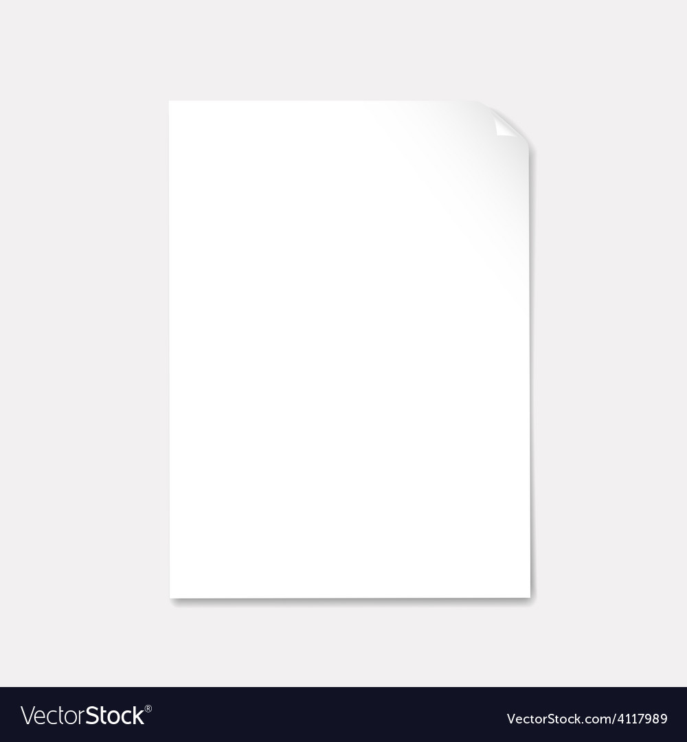 Blank paper with page curl vector | Price: 1 Credit (USD $1)