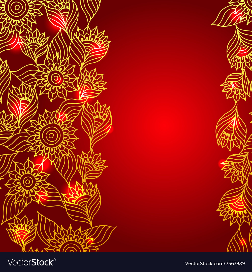 Floral red elegant lace ornament template vector | Price: 1 Credit (USD $1)