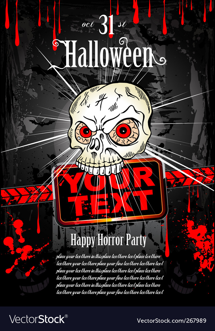 Halloween grunge flyer vector | Price: 3 Credit (USD $3)