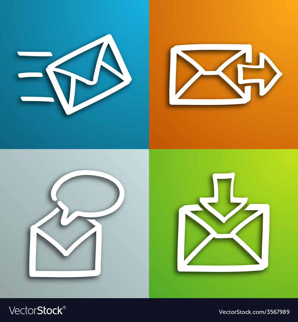 Mail envelopes set vector | Price: 1 Credit (USD $1)