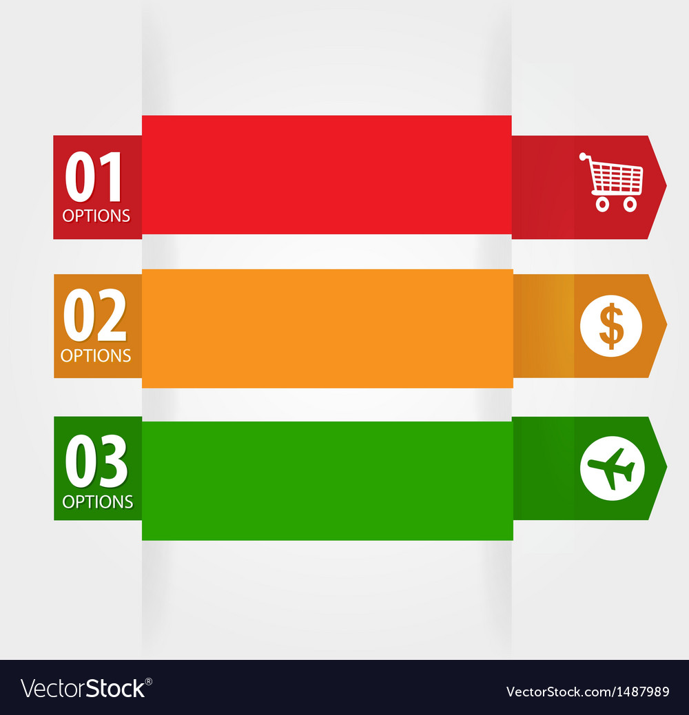 Modern design template with numbered banners vector   Price: 1 Credit (USD $1)