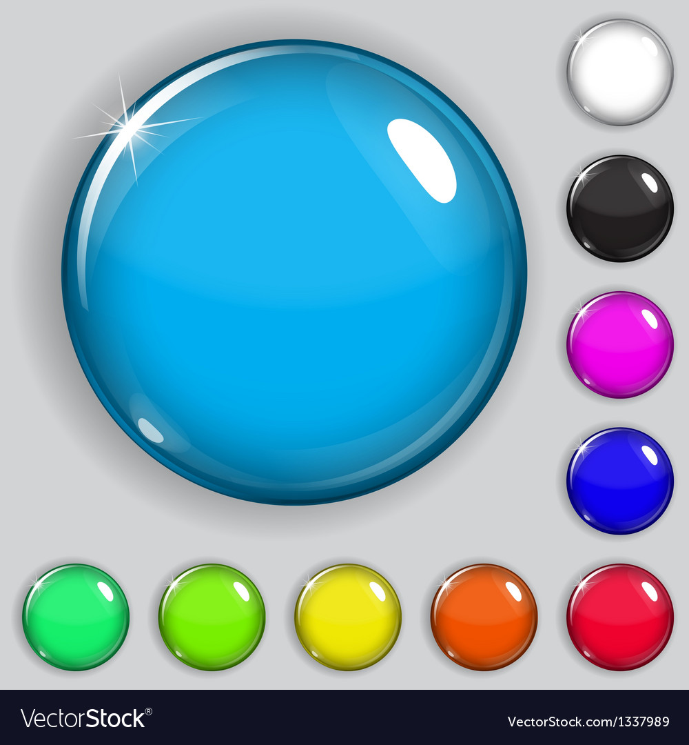 Multicolored glass buttons vector | Price: 1 Credit (USD $1)