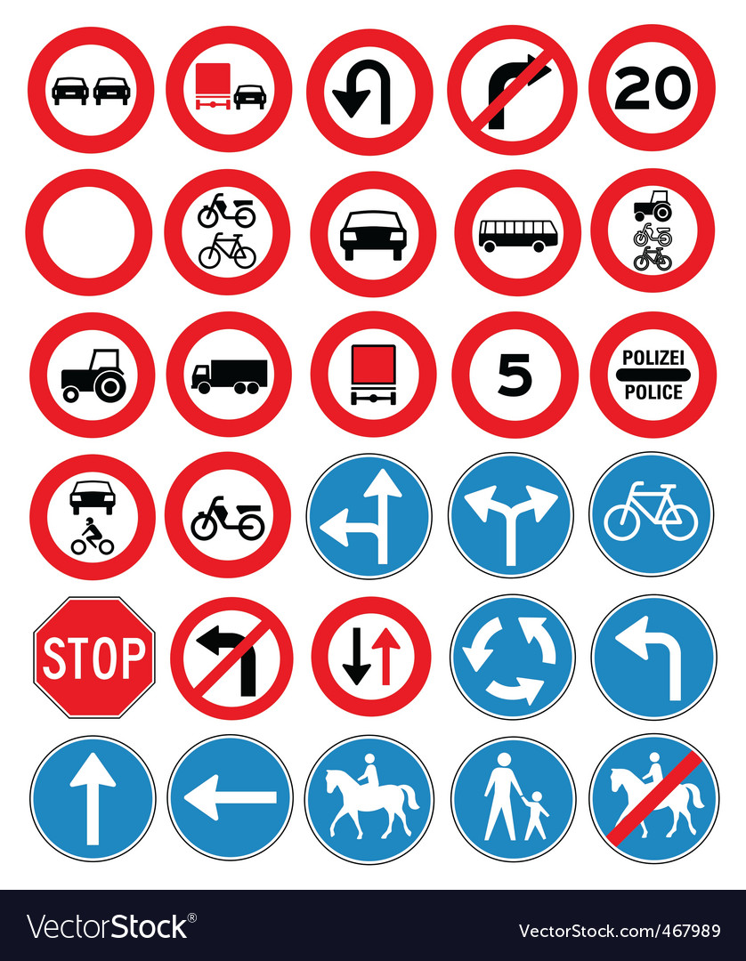 Road icons vector | Price: 1 Credit (USD $1)