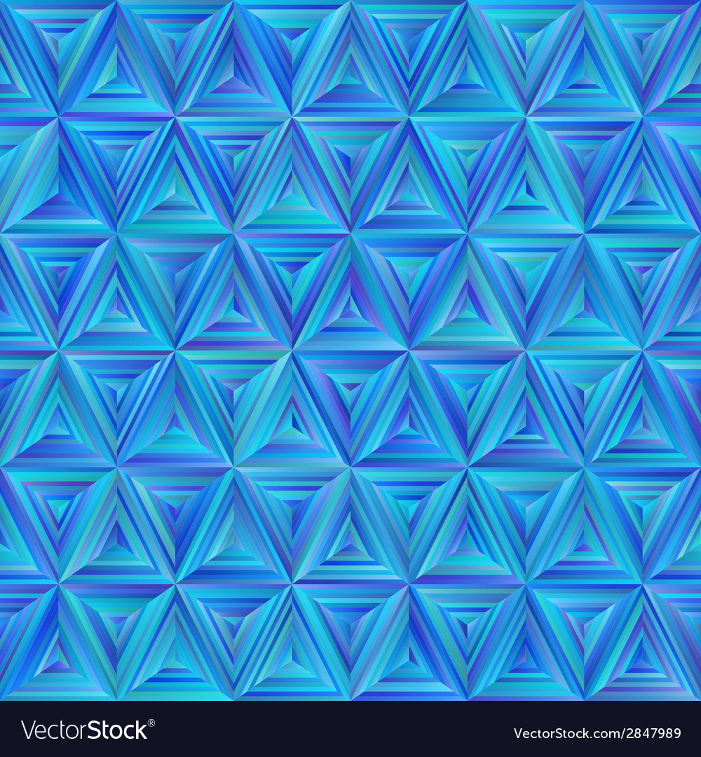Seamless blue triangulate pattern vector | Price: 1 Credit (USD $1)