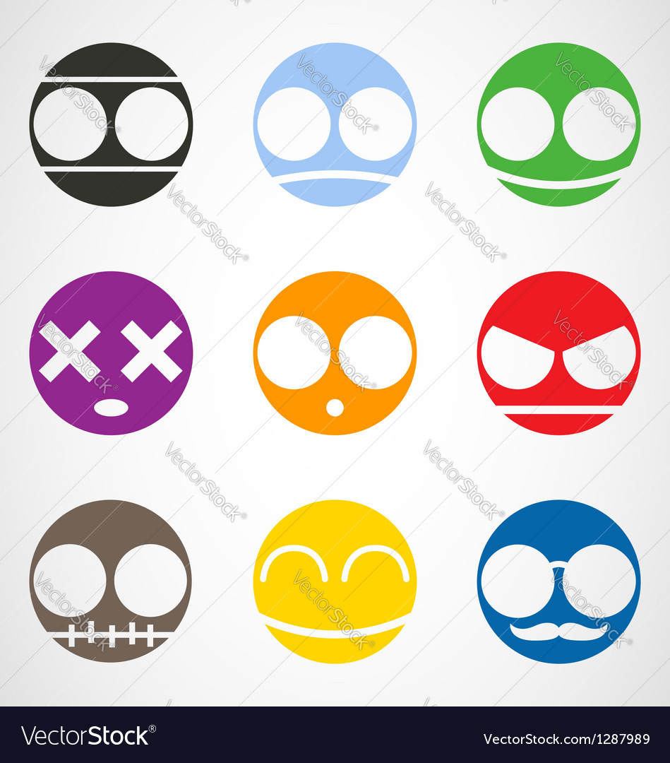 Set of emoticons vector | Price: 1 Credit (USD $1)