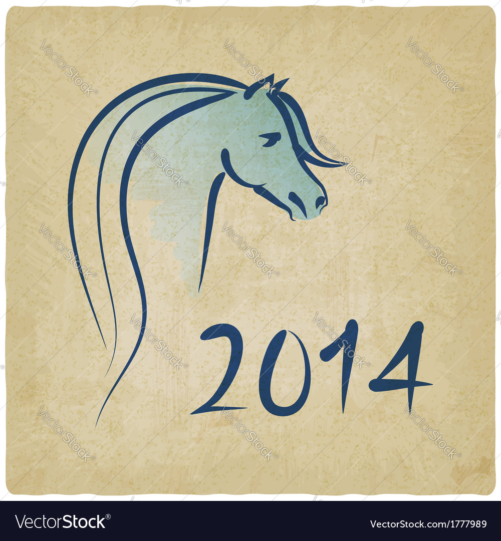Year of blue horse 2014 background vector | Price: 1 Credit (USD $1)