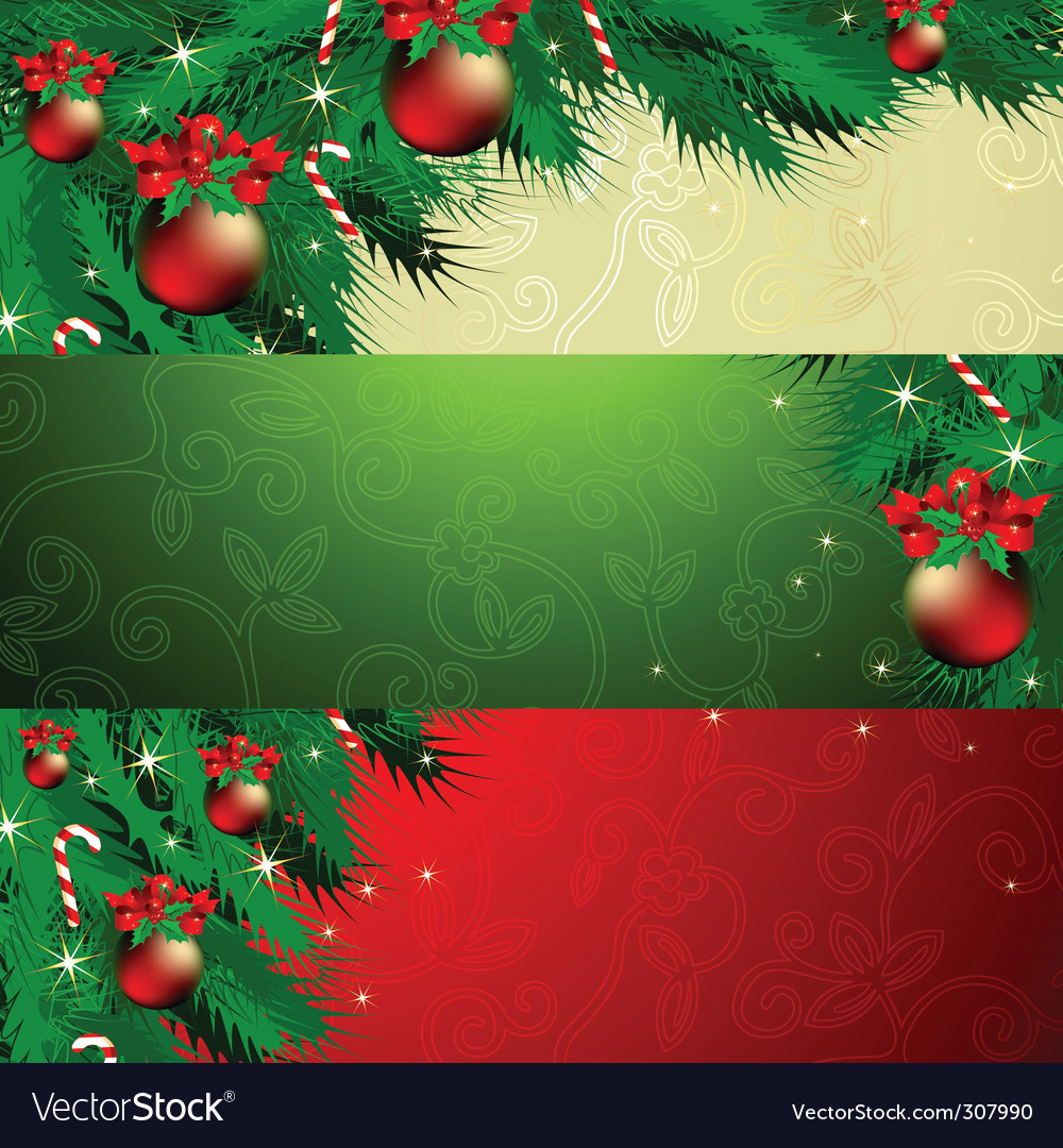 Banner christmas vector | Price: 1 Credit (USD $1)