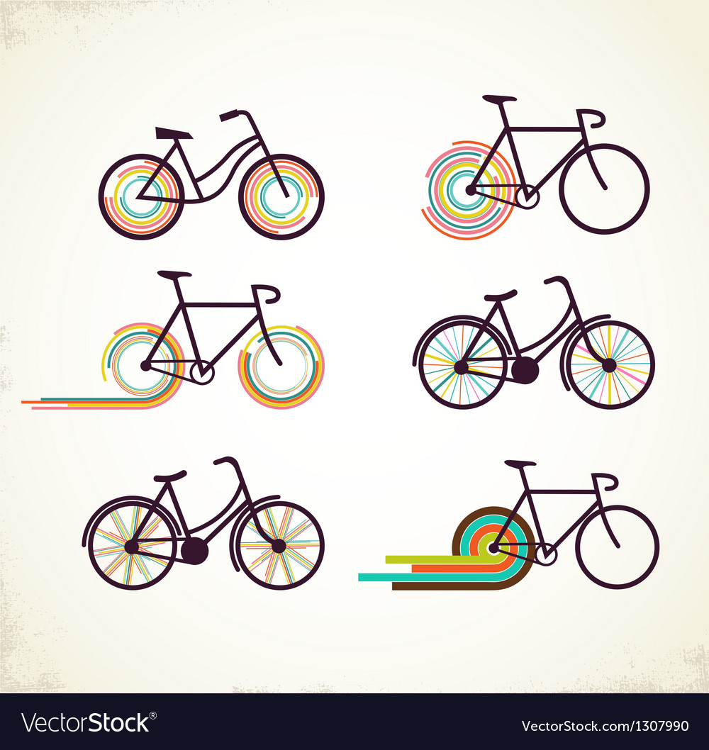 Bicycle set vector | Price: 1 Credit (USD $1)