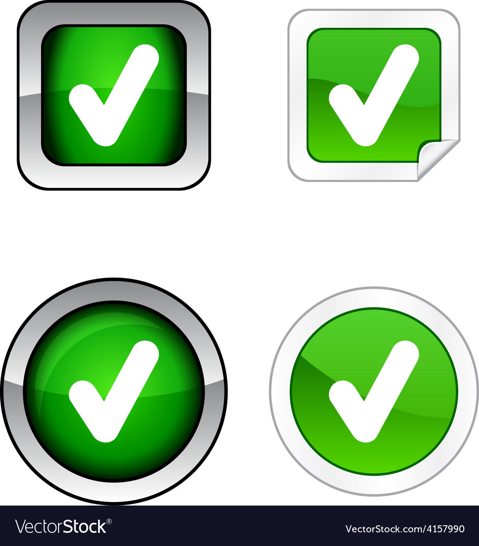 Check button set vector | Price: 1 Credit (USD $1)