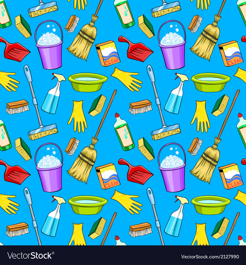 Cleaning supplies cartoon set vector | Price: 1 Credit (USD $1)