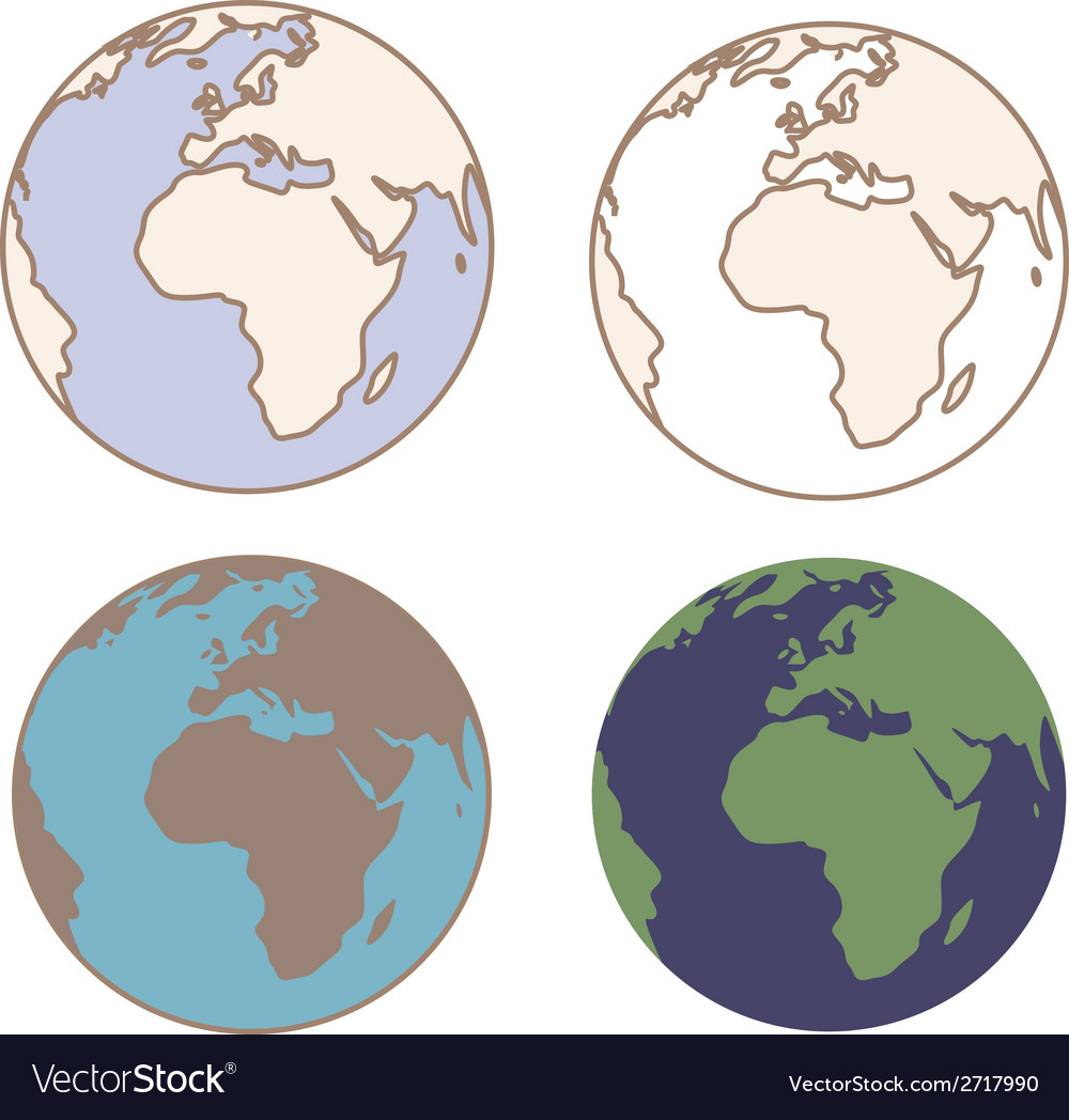 Earth in vintage colors vector   Price: 1 Credit (USD $1)