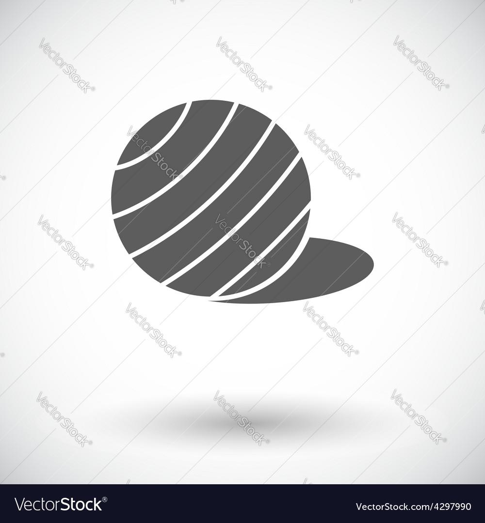 Fittball single icon vector