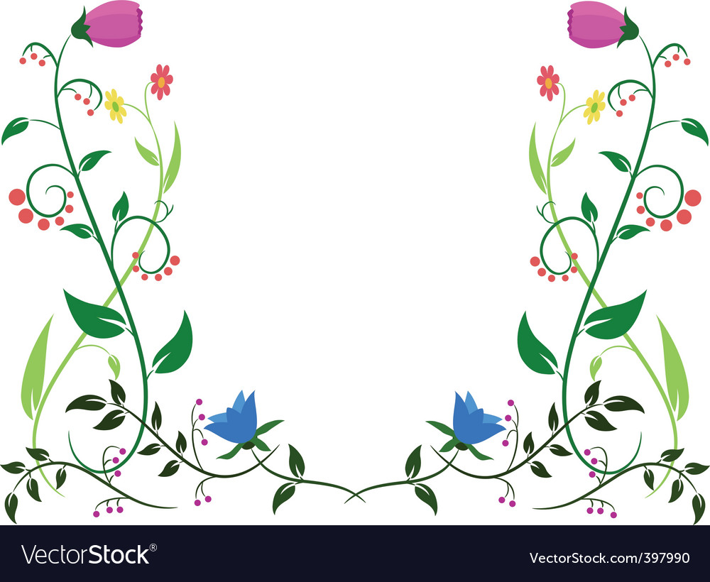Flower leaf ornament vector | Price: 1 Credit (USD $1)