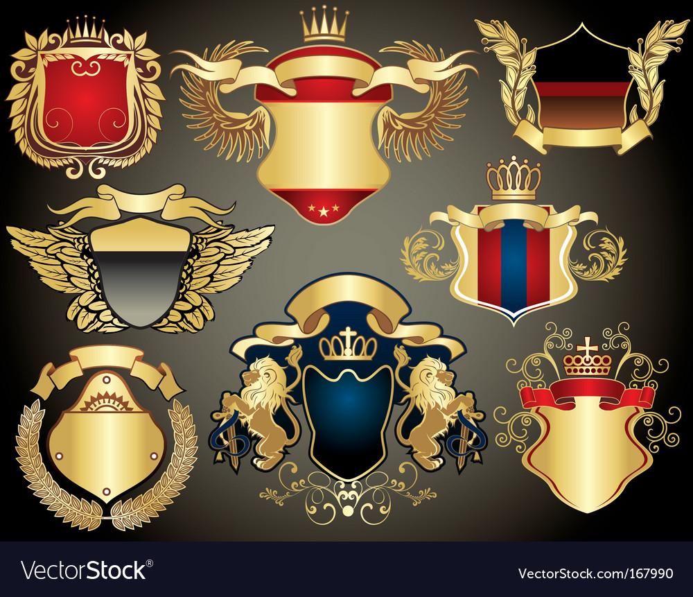 Gold heraldry vector