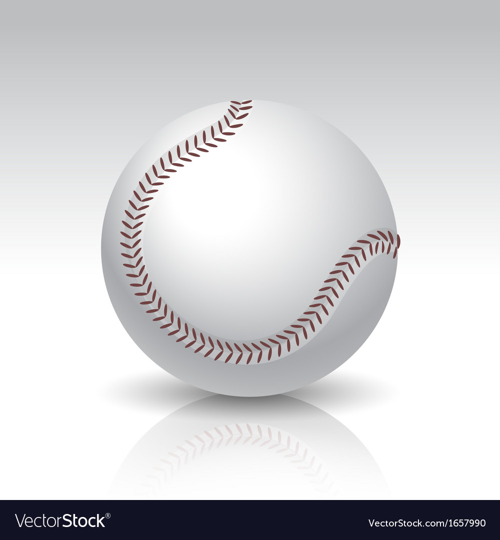 Isolated baseball ball vector | Price: 1 Credit (USD $1)