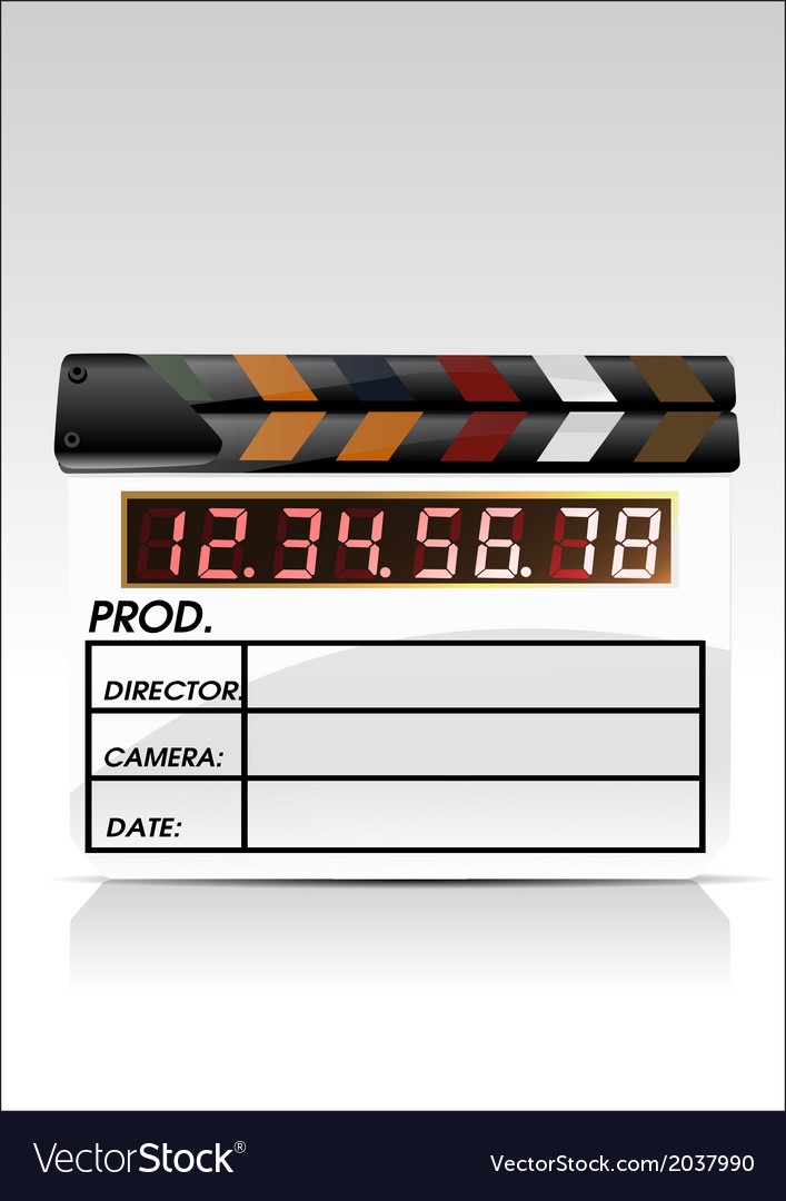 Movie clapper vector   Price: 1 Credit (USD $1)