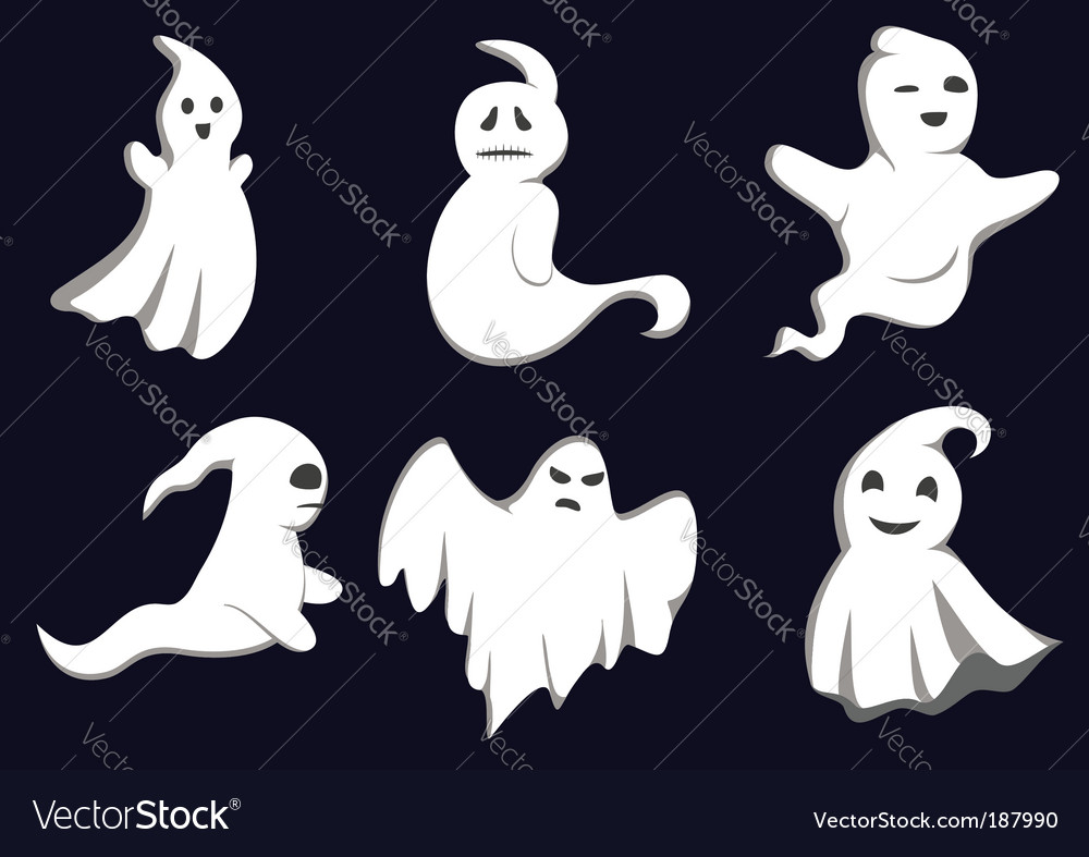 Mystery ghosts vector | Price: 1 Credit (USD $1)