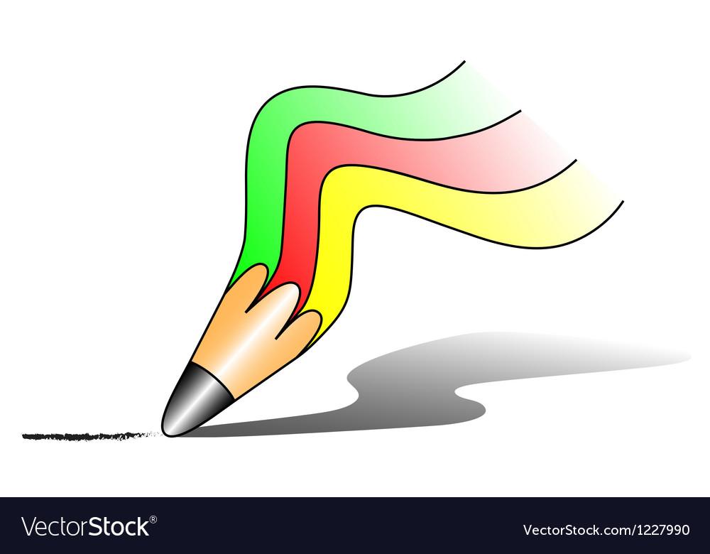 Rainbow pencil vector | Price: 1 Credit (USD $1)