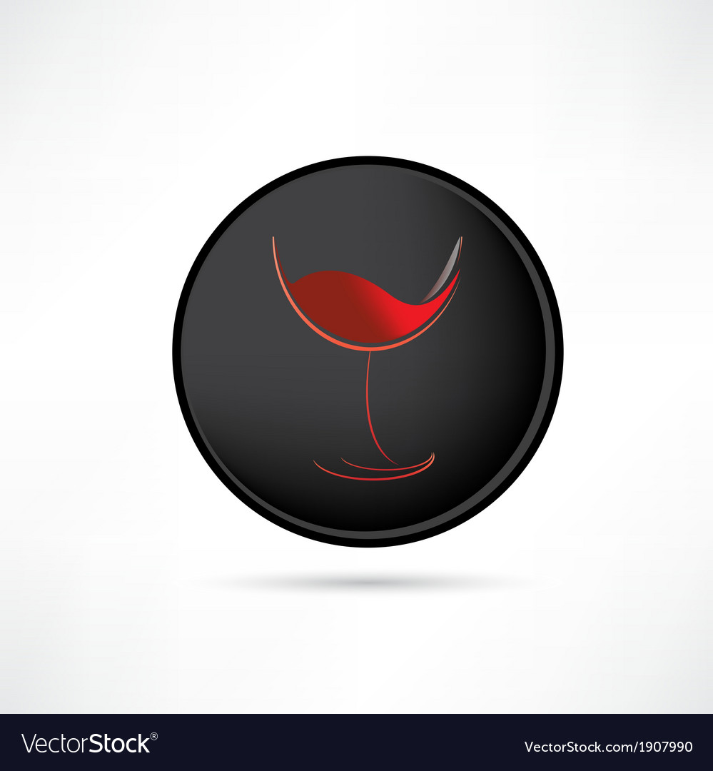 Tasting red wine icon vector | Price: 1 Credit (USD $1)