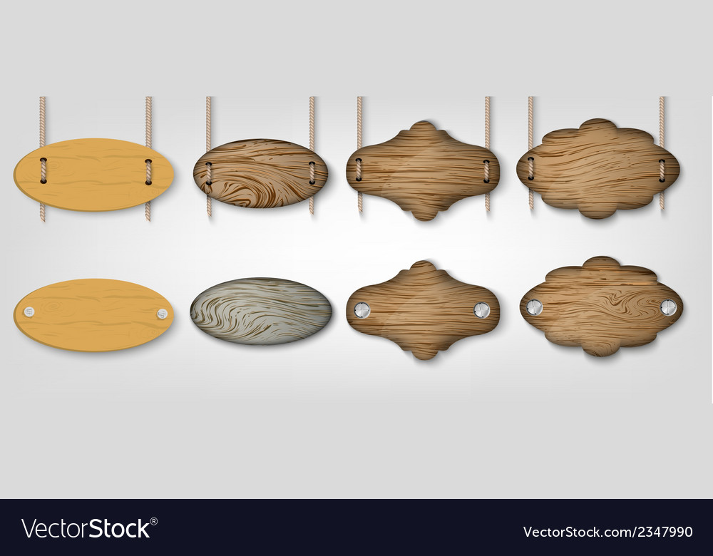 Wooden signs with grass vector   Price: 1 Credit (USD $1)