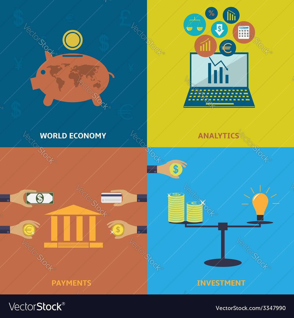 World economy vector | Price: 1 Credit (USD $1)