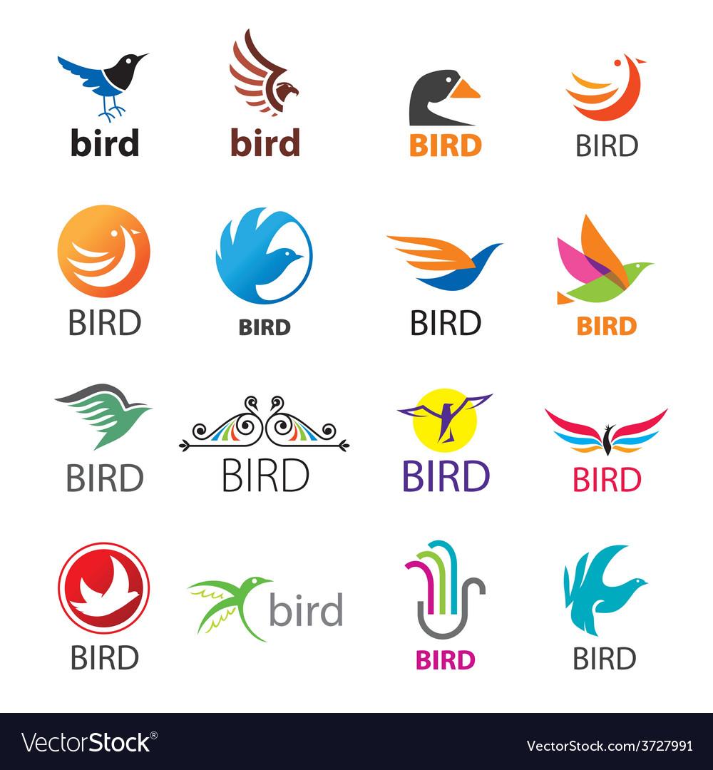 Big set of logos birds vector | Price: 1 Credit (USD $1)