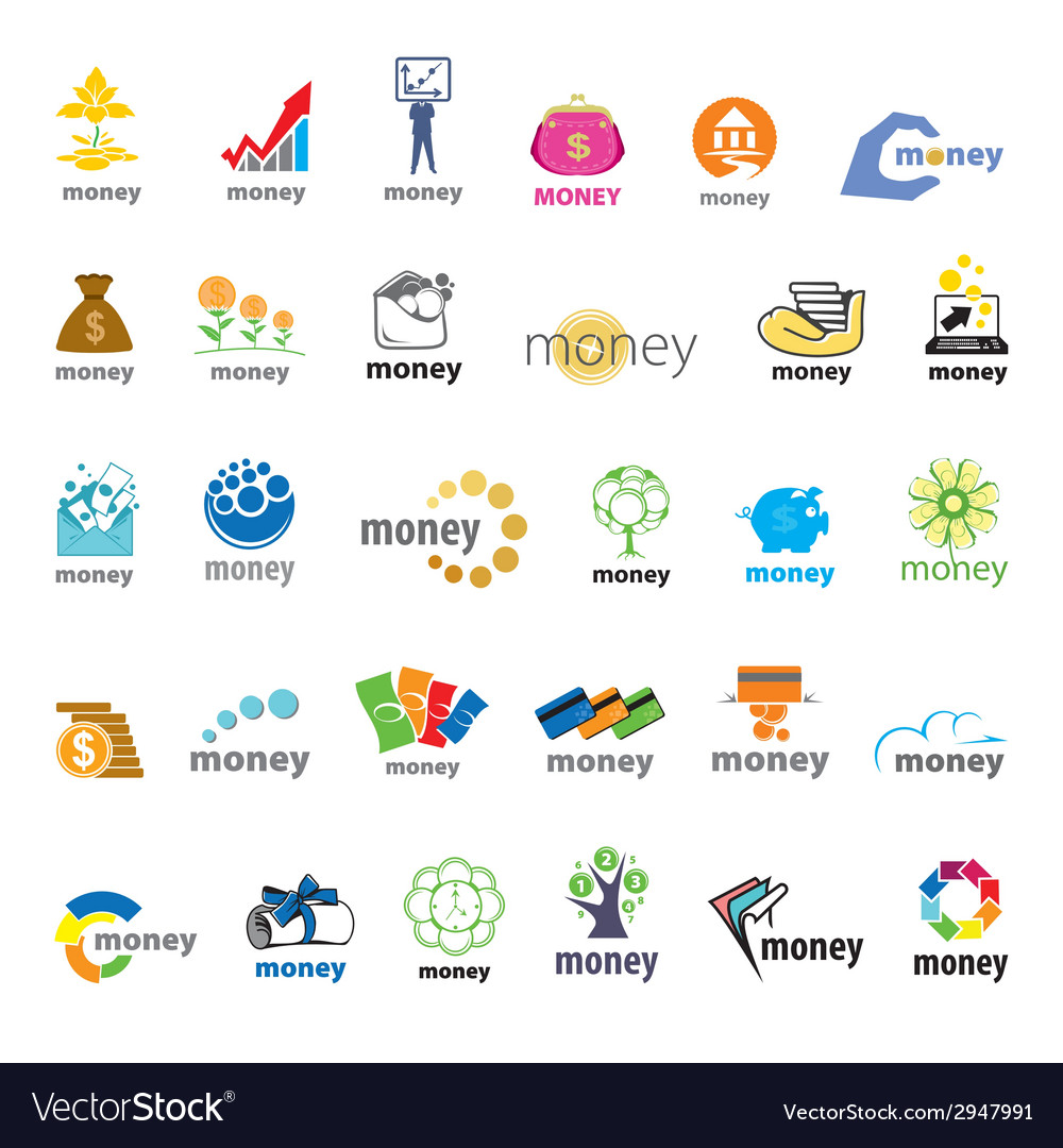 Biggest collection of logos money finance vector | Price: 1 Credit (USD $1)