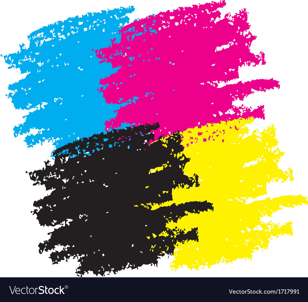 Cmyk grunge smears vector | Price: 1 Credit (USD $1)