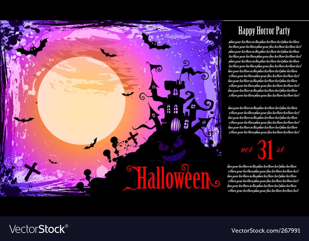 Halloween party flyer vector | Price: 1 Credit (USD $1)