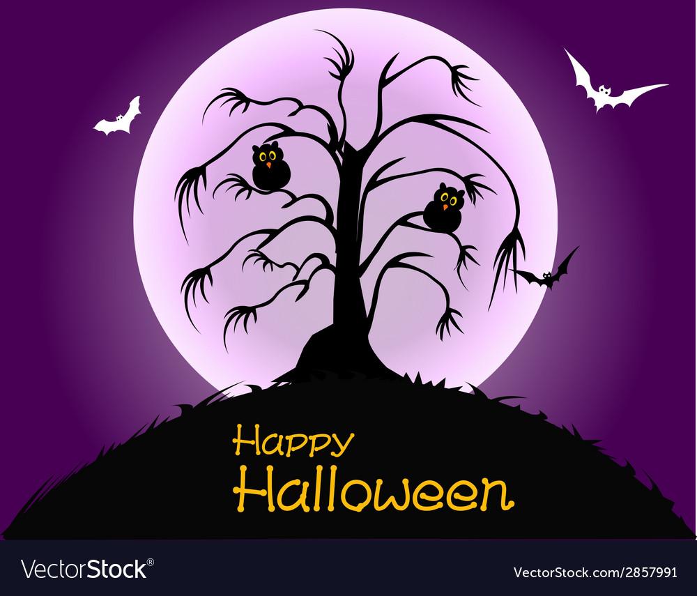 Happy halloween party poster vector | Price: 1 Credit (USD $1)