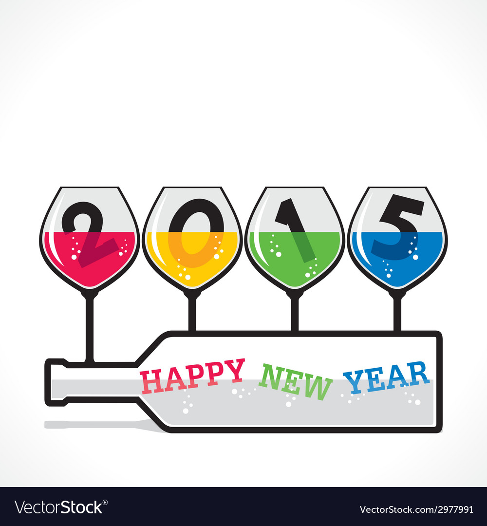Happy new year greeting 2015 vector   Price: 1 Credit (USD $1)
