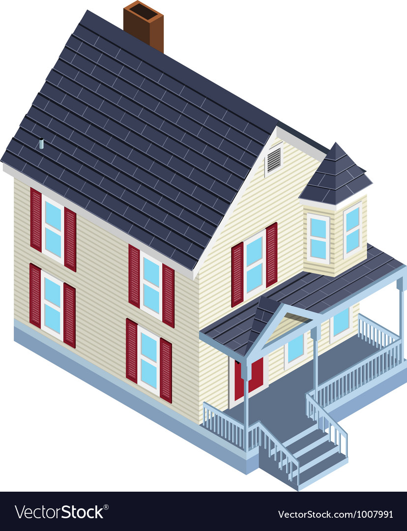 Isometric country home vector | Price: 3 Credit (USD $3)