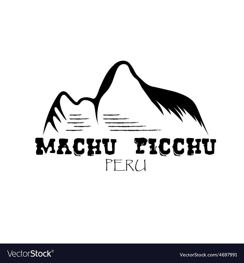 Machu picchu mountain of peru design template vector | Price: 1 Credit (USD $1)