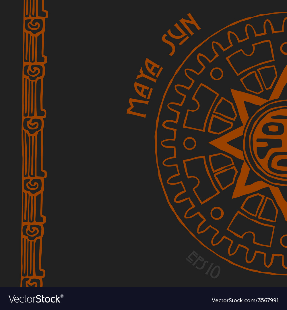 Maya sun half vector | Price: 1 Credit (USD $1)
