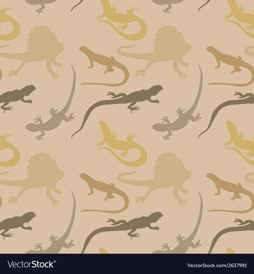 Seamless pattern with lizards vector | Price: 1 Credit (USD $1)