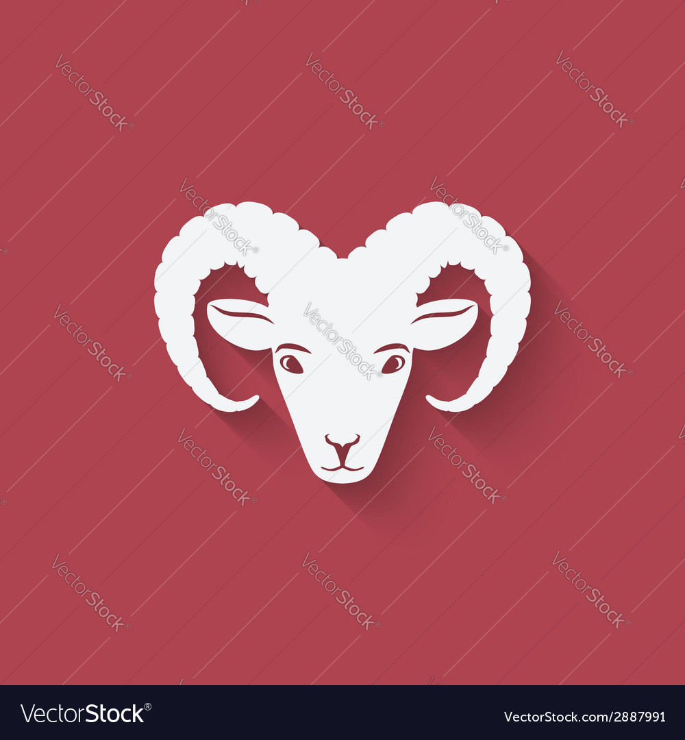 Sheep head symbol vector | Price: 1 Credit (USD $1)