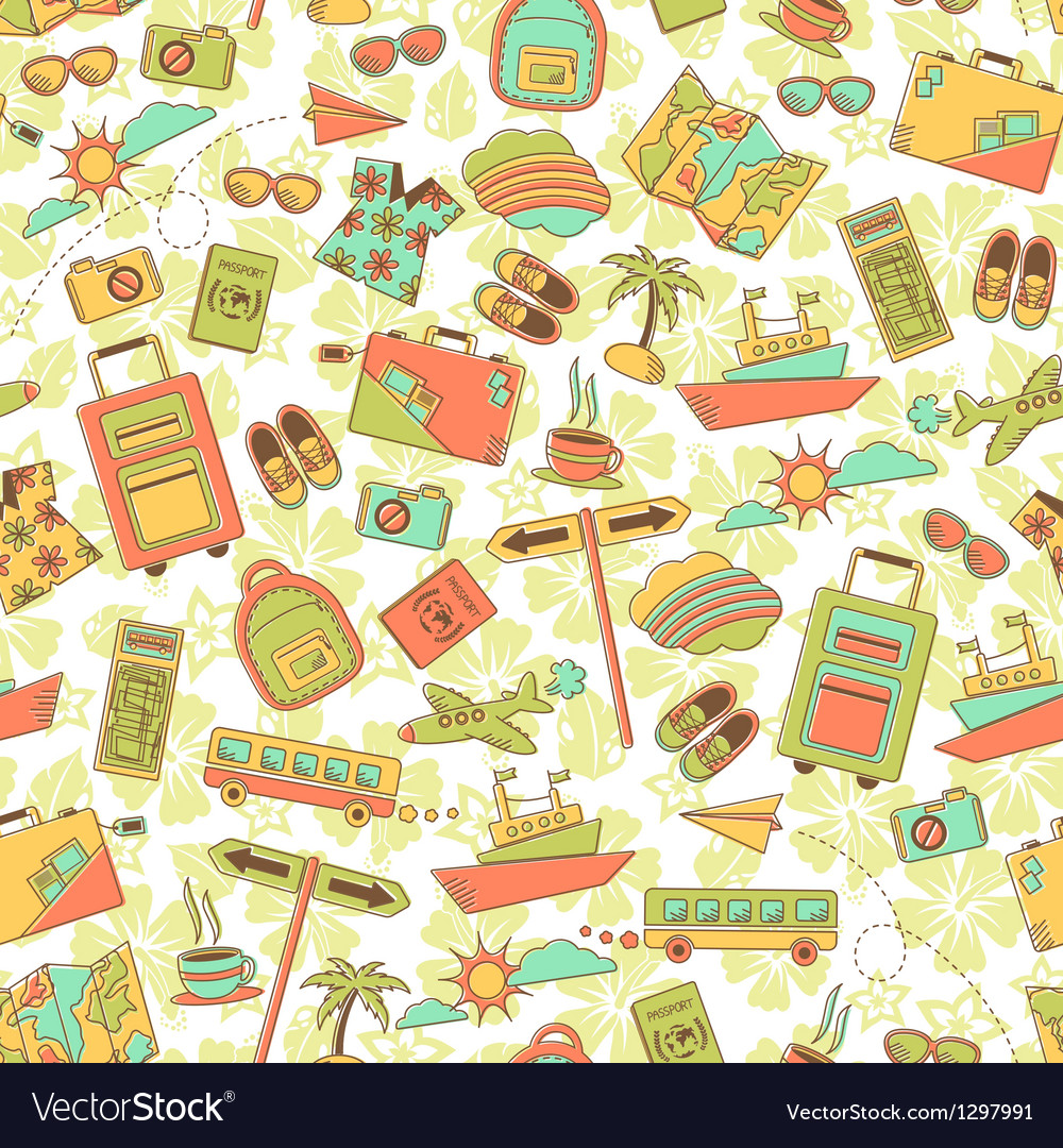 Travel pattern vector | Price: 3 Credit (USD $3)