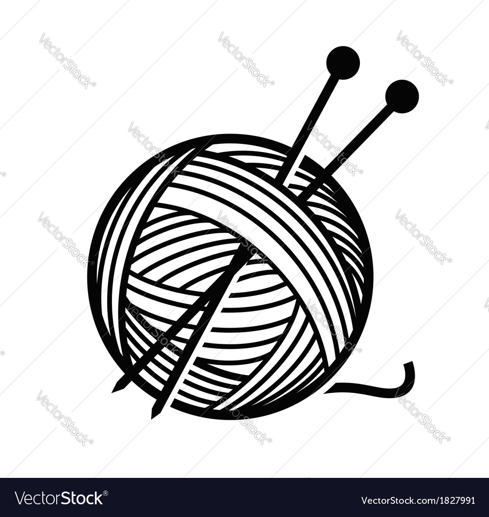 Yarn and needles vector | Price: 1 Credit (USD $1)