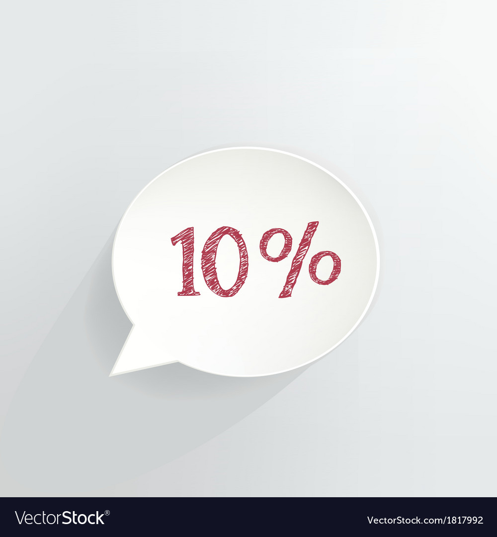 10 off vector | Price: 1 Credit (USD $1)