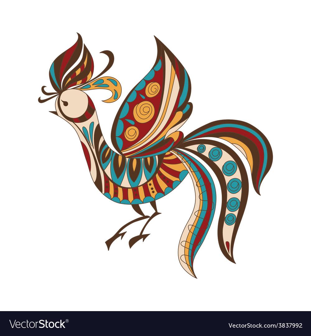 Bright decorative bird vector | Price: 1 Credit (USD $1)