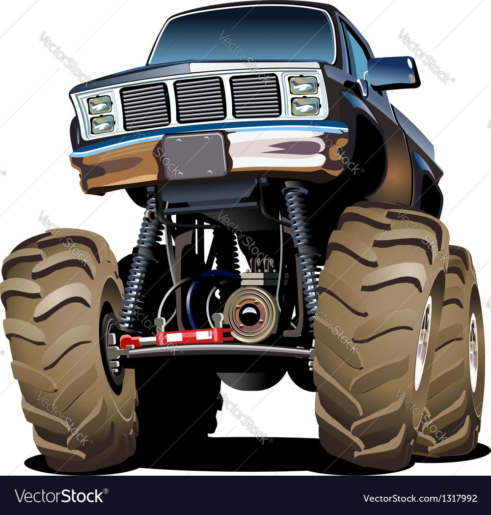 Cartoon monster truck vector | Price: 1 Credit (USD $1)
