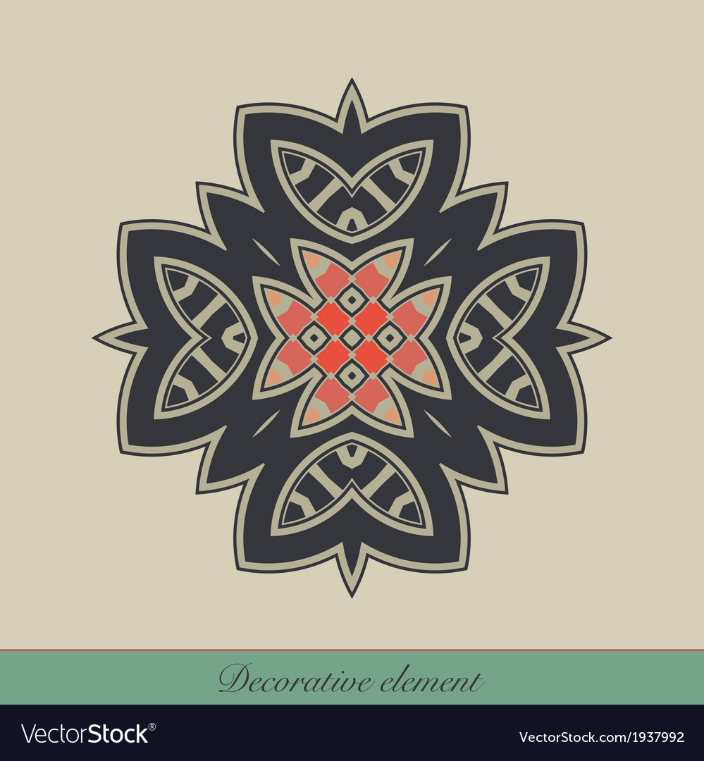 Decorative element vector | Price: 1 Credit (USD $1)