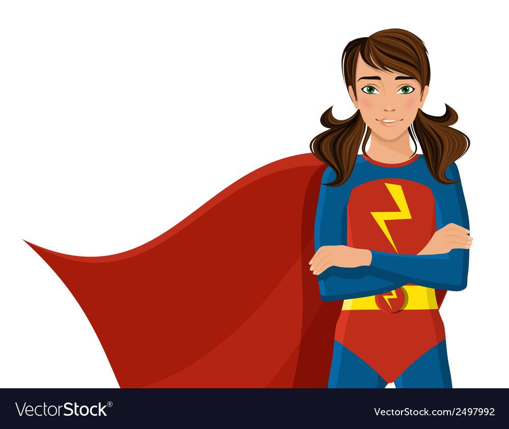 Girl in superhero costume vector | Price: 1 Credit (USD $1)