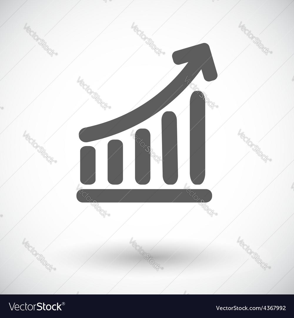 Graph single icon vector