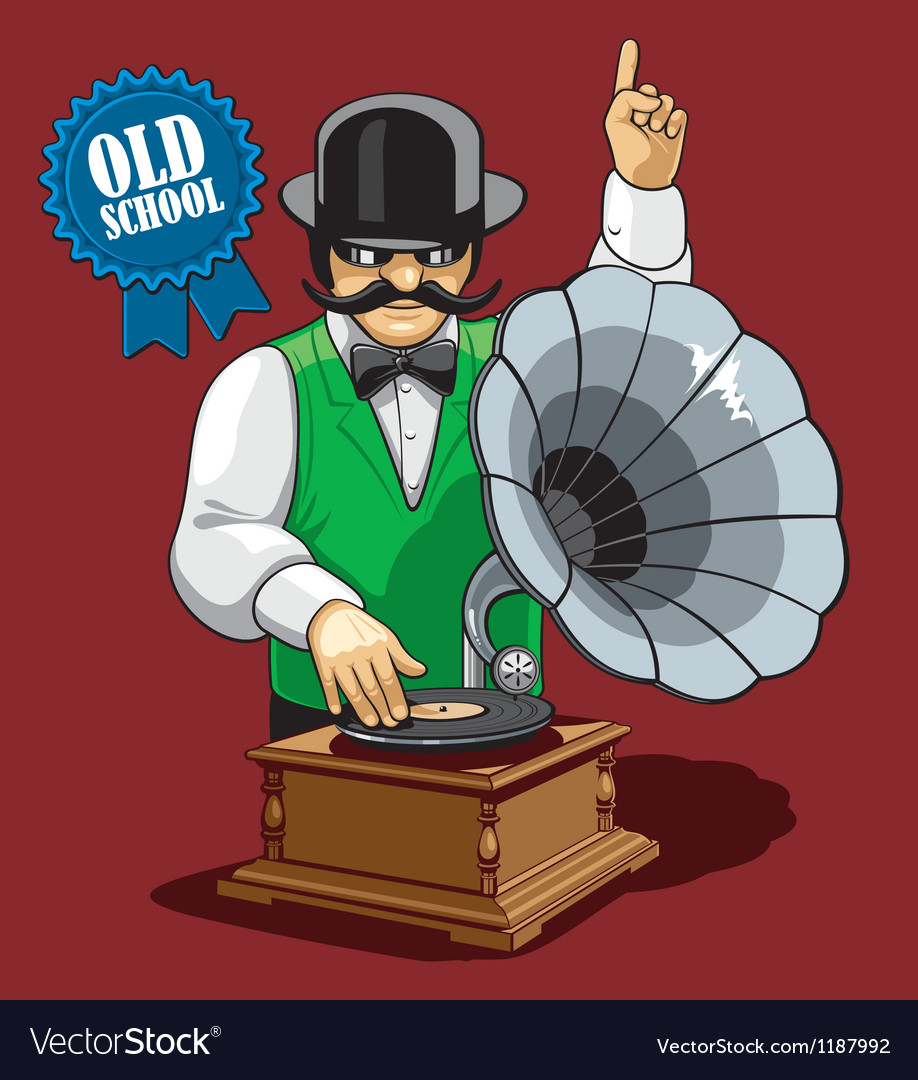 Old school music vector | Price: 5 Credit (USD $5)