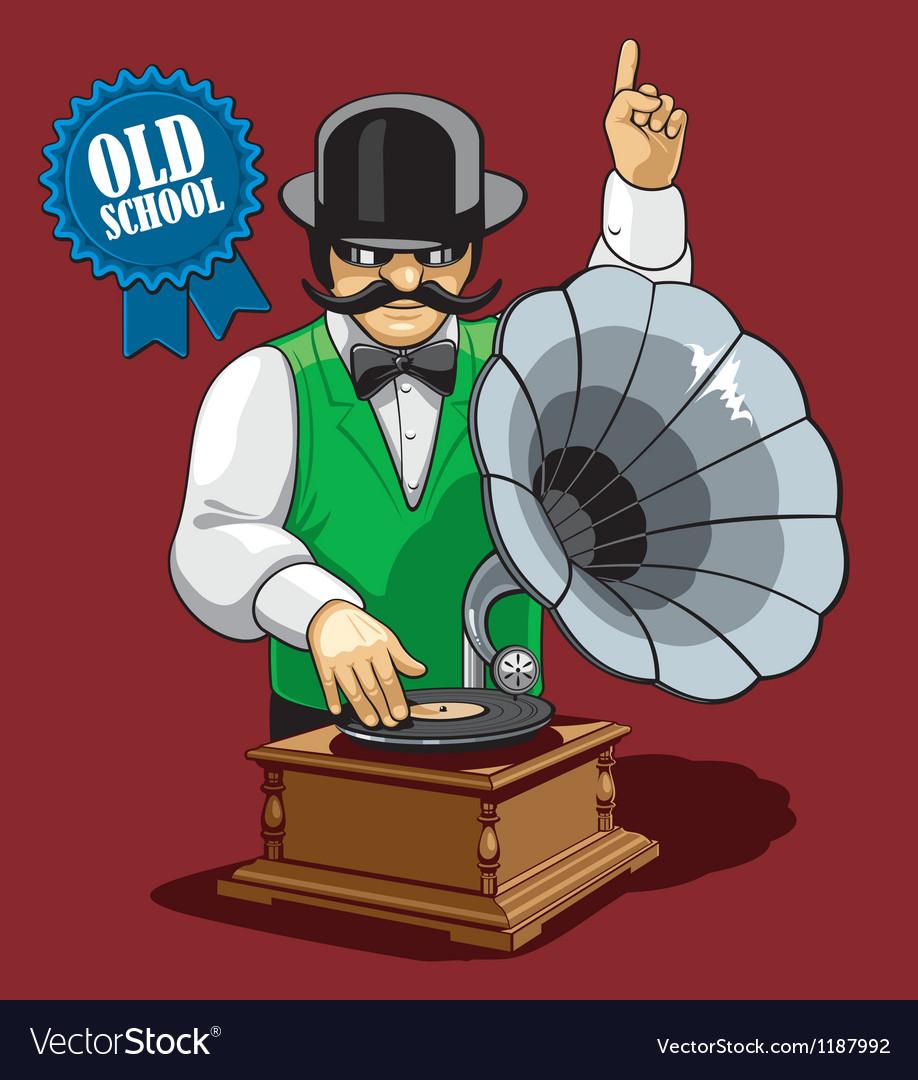 Old school music vector | Price: 5 Credit (USD $5)