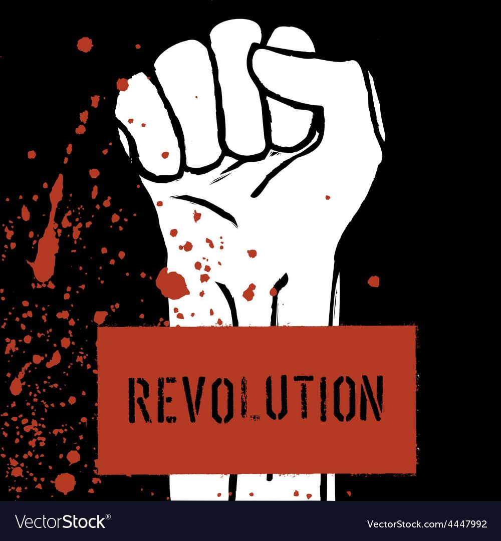 Revolution poster fist symbol vector | Price: 1 Credit (USD $1)