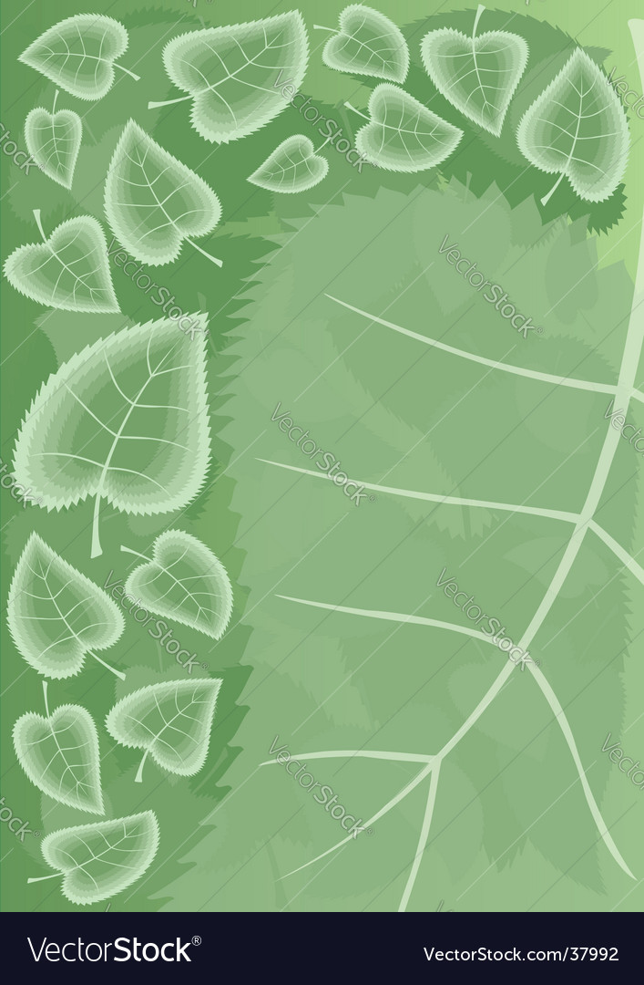 Summer green leaves vector | Price: 1 Credit (USD $1)